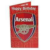 Arsenal FC Geburtstagskarte, mit Musik, Musical-Sound beim Öffnen von neuen