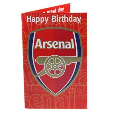 Arsenal FC Official Birthday Musical Sound Card Plays Music When Open New