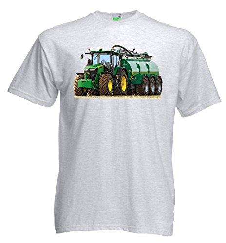 Kinder T-Shirt | Traktor mit Güllewagen | Schlepper | Bulldog | Trecker | Premiumshirt von Bimaxx® Ashgrau