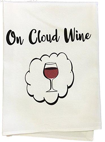 Auf Cloud Wein Geschirrtuch Cloud-wein