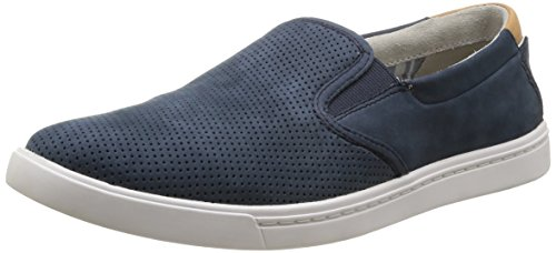 Clarks  Newood Easy,  Slip On uomo, Blu (Bleu (Denim Blue Nbk)), 43