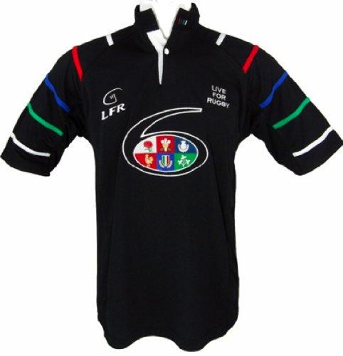 Live for Rugby Trikot Six Nations, atmungsaktiv, Gr. XS - XXXL - L (Europäische Rugby-shirt)