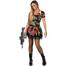 Atosa - 22704 - Disfraz - Disfraz De militar atractiva del zombi - Adulto - ET-3