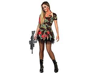 Atosa 22702 Disfraz militar sangriento adulto XS-S, talla mujer