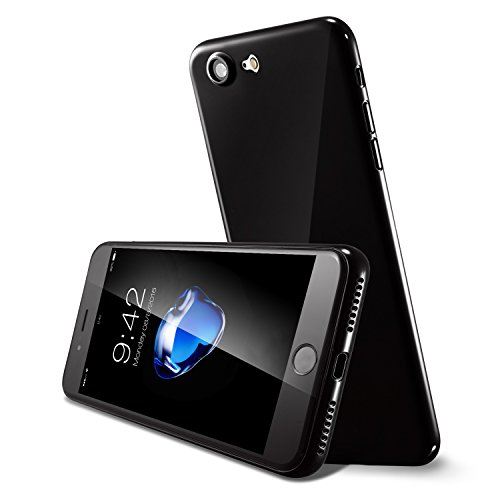 iPhone 8 Hülle und iPhone 7 Hülle( 4.7 inch),0.3mm Ultradünne Weltweit Dünnste Hart Schützen Abdeckung Sstoßstange Leichtes für iPhone 7(2016)&iPhone 8(2017) Diamantschwarz Diamantschwarz 0.3mm