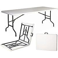 Tavolo Tavolino pieghevole in dura resina 244x76xH74 cm per sagra campeggio fiera casa