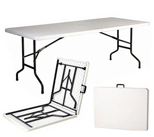 SNODEC Tavolo Tavolino Pieghevole in Dura Resina 243x76xH74 cm per sagra Campeggio Fiera casa