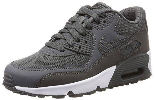 Nike Jungen Air Max 90 Mesh (GS) Sneaker, Grau (Dark Gre/Dark Grey-Black-White), 38.5 EU (Mesh-schuhe Grau)