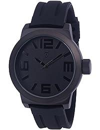 Konigswerk AQ202894G - Reloj de pulsera para hombre (manecillas blancas, anillo interior, correa de silicona, dial y caja de cuarzo)