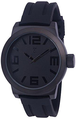 Konigswerk Orologio con lancette nere, con anello interno, in Silicone, a fascia, custodia al quarzo AQ202894G quarzo - Quarzo Contemporaneo Anello
