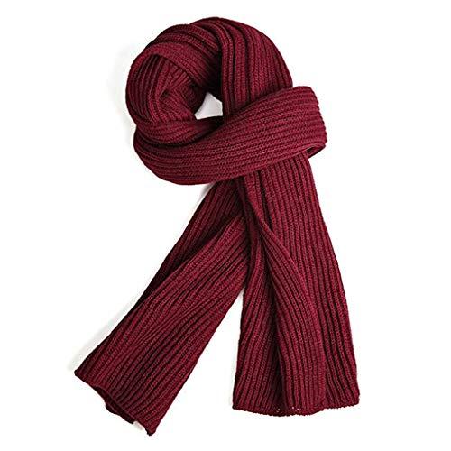 Warm Herbst und Winter Schal, VICWARM Pure Farbe Winter Neck Warm Stricken Garn Schal For Damen /Herren Einheitsgröße Red -