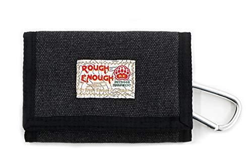 Rough Enough Leinwand Geldbörse Klein Herren Männer Damen Kartengeldbörse Geschenk für Männer Geschenke für Die Mädchen Kinder Junge Jungen Teenager Brieftasche Reisen Canvas Slim Wallet for Men Kids