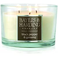Baylis & Harding Black Pepper and Ginseng 3 Wick Candle