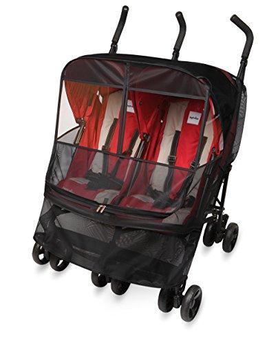 [manito] mesh twin mostquito net / zanzariera per twin passeggino e passeggino, occhio di protezione ampie finestre