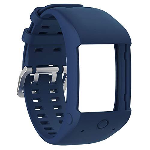 AOLVO Bands Fit für Polar M600 Handgelenkband, Teepao weiches Silikon Armband Sportarmband kompatibel Polar M600 GPS Smart Watch, Marineblau