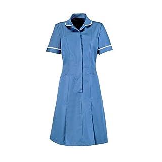Alexandra Workwear Womens Zip Front Healthcare Dress Hospital Blue 20 T