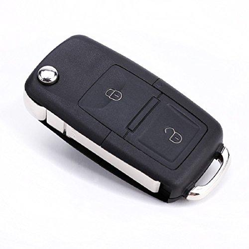 lovelifeast Ersatz Eintrag Fernbedienung Schlüsselanhänger runbber Shell Fall für Volkswagen VW Polo Golf Mini Car Keyless Aoto (Remote-auto-eintrag)