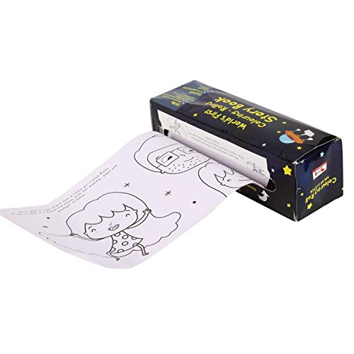 CocoMoco Kids Solar System Colouring Roll Story Book for Kids, STEM Toy, Educational Toy and Return Gift for 2-3, 4-5 Year Old Boys and Girls, Multicolor