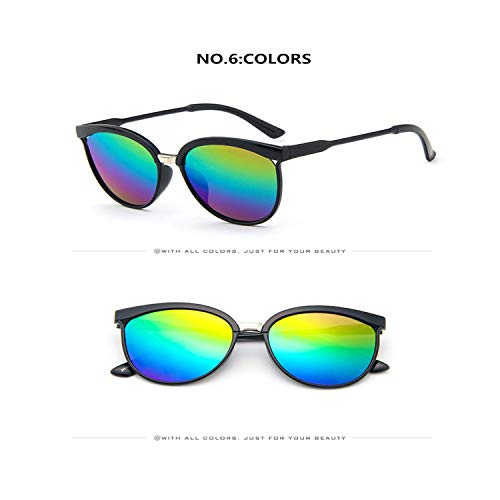 Klassische Sportsonnenbrille, Female Cute Cat Eye Sun Glasses Women Popular Designer Sunglasses Retro Goggles Cateye Sunglass Oculos De Sol C6