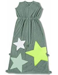 Baby Boum Superstar design cotton based terry Sleeping Bag 1 tog (Pingu Grey, 12-36 months)