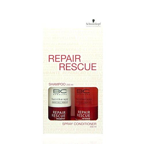 Schwarzkopf BC Bonacure Repair Rescue Shampoo 250ml + Intense Spray Conditioner 200ml -