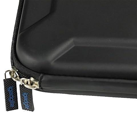 igadgitz Schwarz EVA Reise Hart Tasche für LG BP50NB40 Slim USB Externer DVD/Blu-Ray Brenner Writer Laufwerk Schutzhülle Case
