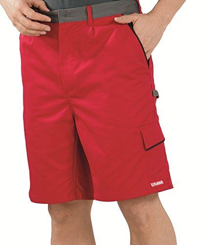 2376 Planam Shorts Highline, rot/schiefer/schwarz, Größe: Large