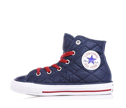 Converse Chuck Taylor All Star Hi Side Zip Textile Glitter mädchen, wildleder, sneaker high Blu