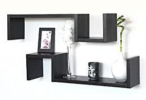 2 mensole design legno marrone scuro mensola salotto for Ikea mensole da muro