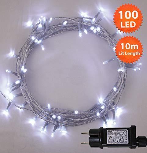 Luces hadas Navidad 100 LED Luminous Blanco luces