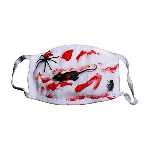 BESTOYARD Cosplay Partei Mund Maske Halloween Blutige Maske Happy Halloween Party Requisiten Zubehör (Maus fliegen Spinne)