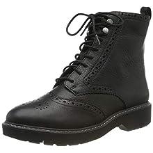 Clarks Witcombe Flo, Stivaletti Donna, Nero (Black Leather Black Leather), 42 EU