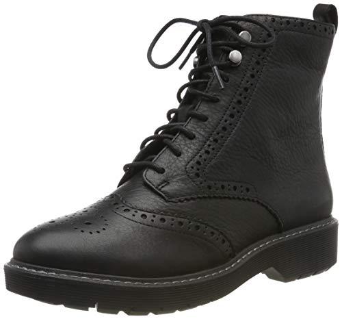 Clarks Damen Witcombe Flo Stiefeletten, Schwarz Black Leather, 38 EU