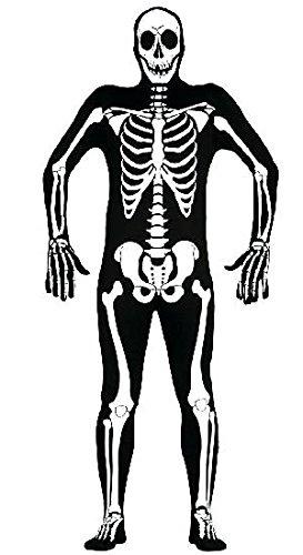 Skelett Kostüm für Erwachsene Gr. M/L, -