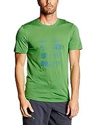 Ortovox–Camiseta para hombre (lana merino Mountain, primavera/verano, hombre, color Verde - Absolute Green, tamaño S