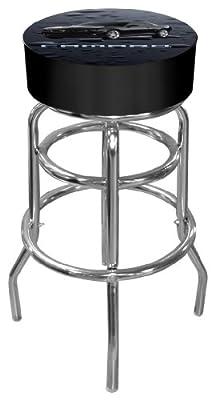 Black Camaro Padded Bar Stool - low-cost UK bar stool shop.