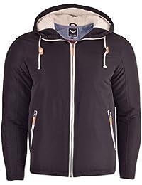 Mens Brave Soul Hooded Jacket Sherpa 'Borg Lined Hood' Zip Pockets Transitional Coat
