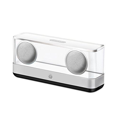 Bluetooth Lautsprecher, ELEGIANT Mobiler Bluetooth 4.2 Wireless Lautsprecher 20W Dual-Treiber HiFi-Sound LED-Licht Speaker Music Box mit reinem Bass 12 Stunden Spielzeit für Outdoor Indoor