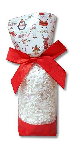 50 x klar Zellophan Block Boden Party süß Süßigkeiten behandeln Taschen (klein - 56x37x220mm) - Weihnachtssankt-Schneemann Rudolph