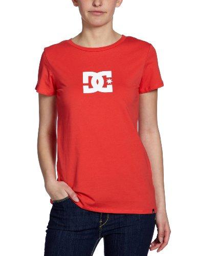 DC Shoes Damen T-Shirt Tstar, lipstick red/white, 42 (XL), DOWJE213 -