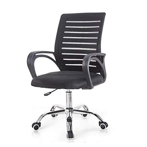 Stühle XUERUI Zuhause Büro Schreibtisch Ergonomisch Mesh Hoher Rücken mit Armlehne Sitz Lordosenstütze Dauerhaft (Farbe : Schwarz) (Boot-tisch Base)