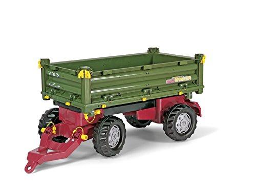 Rolly Toys Anhänger Rolly Toys 125005 rollyMulti Trailer | Kippanhänger mit Anhängerkupplung hinten | Anhänger / Dreiseitenkipper  / 2-Achsanhänger mit Bordwände zum Abnehmen | ab 3 Jahren | Farbe grün