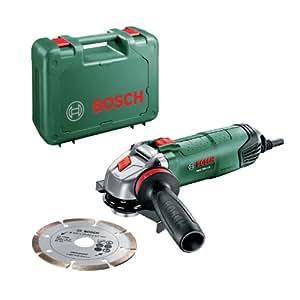 Bosch PWS 750-115 Smerigliatrice Angolare, Sistema Dust Protection, Valigetta