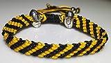 Mary's Terrace bracelet of cordes in RUGBY Couleurs. Faite à la Main sur Commande. Toutes les equipes de rugby disponibles WASPS
