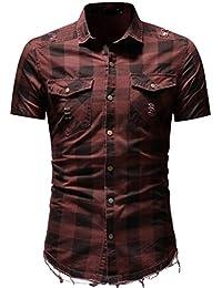 LuckyGirls Camisa Camisetas Originales Hombre Manga Cortos Verano Moda Negocio Basicas Polos Deportivas Blusa Casuales Slim Color… J6JFfLaVUJ