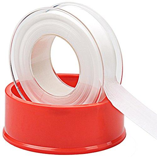 ofoen Versiegelungsmittel Tape, Industrie Versiegelungsmittel Klebeband PTFE Klebeband für Küche Wasserhahn GARTEN Schlauch Kugelhahn Wasserdicht Armatur Rot / Weiß