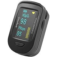 Pulsiossimetro da Dito,Monitor delle pulsazioni, Display LED Digitale, per Fitness, Sport, Alpinismo