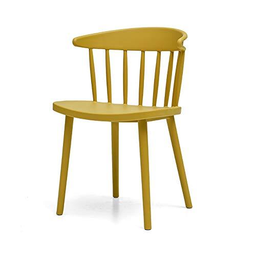 Esszimmerstühle YXX Kunststoff Dining Side Chair Rückenlehne Stühle für Küche, einfache...