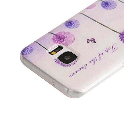 PowerQ Bunte Muster Serie Malerei Drucken Tasche TPU Hülle Etui Fall Case Cover < Heart-shaped pencil | für IPhone6SPlus IPhone 6SPlus 6Plus IPhone6Plus >          Zeichnung weiche Silikon Abdeckung Handy-Fall Purple Dandelion
