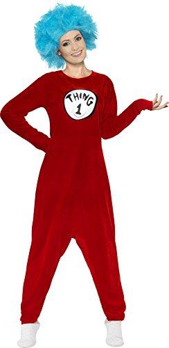 sex Thing 1 oder Thing 2 Kostüm, Größe: L, rot (Dr Seuss Thing 2 Kostüm)